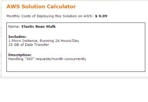AWS calculator BeanStalk Service