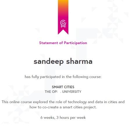 Smart City Certificate